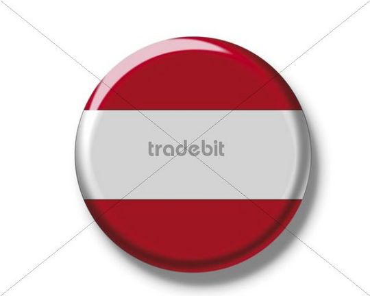 Button badge, flag of Austria