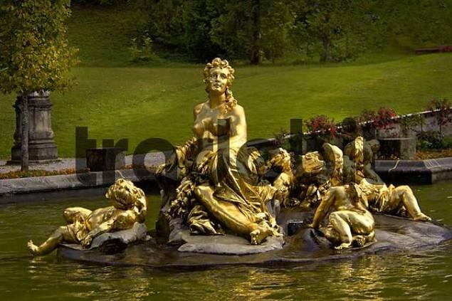 fountain at Linderhof Palace Bavaria Germany