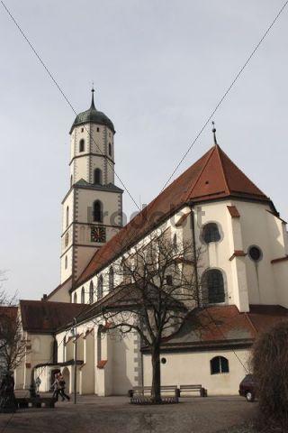 St. Martins church, view from church square, Biberach an der Riss, Upper Swabia, Baden-Wuerttemberg, Germany, Europe