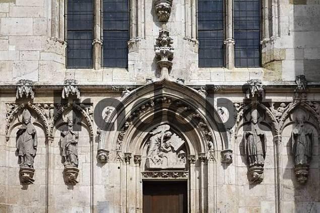 Regensburg , cathedral waest facade , Bavaria Germany