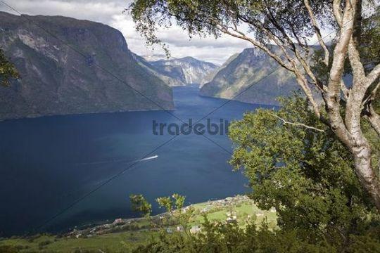 Aurlandsfjord, Aurland, Sogn og Fjordane, Norway