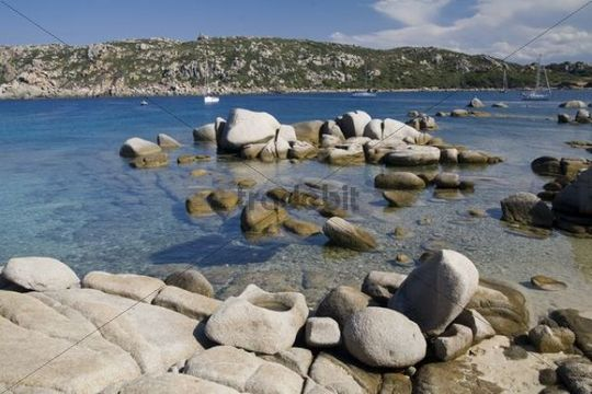 Granite rocks on the beach, Santa Teresa di Gallura, Gallura region, Sardinia, Italy
