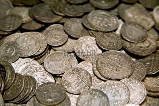 Old treasure coins