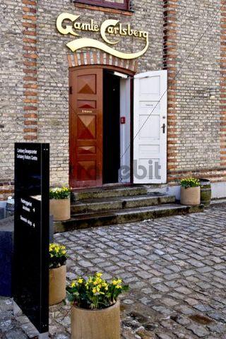 Entrance to the Carlsberg visitor center in Copenhagen, Denmark, Europe