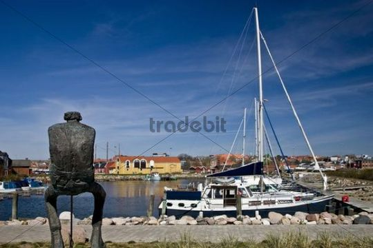 View to Thisted harbour, Denmark