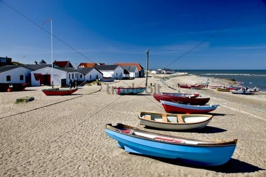 A small fishing village at the Danish west coast, Denmark