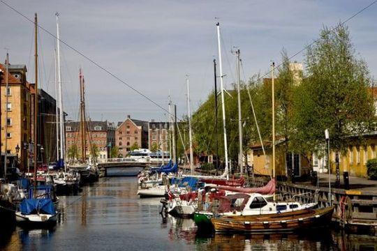Christianshavns canal, Copenhagen, Denmark