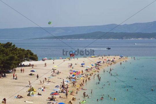 Beach Golden Horn, Bol, Brac Island, Dalmatia, Croatia, Adriatic Sea, Mediterranean, Europe