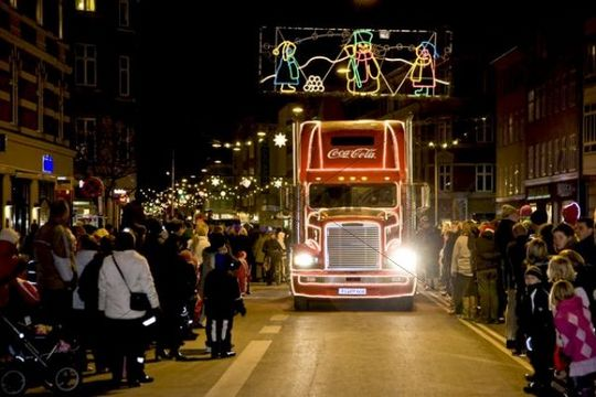 The Coca Cola Christmas truck