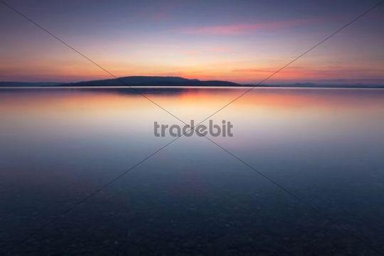 Evening mood on Reichenau island at Lake Constance, Baden-Wuerttemberg, Germany, Europe