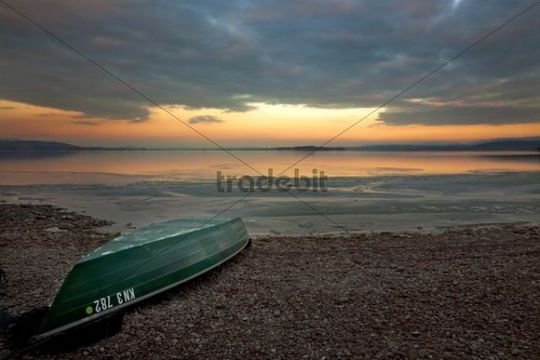 Morning light on Reichenau island at Lake Constance, Baden-Wuerttemberg, Germany, Europe