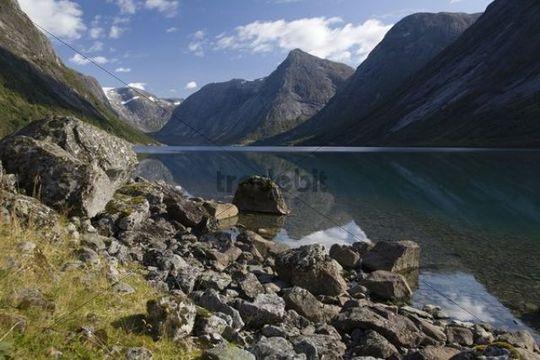 Kjøsnesfjorden, Jølster, Sogn og Fjordane, Norway