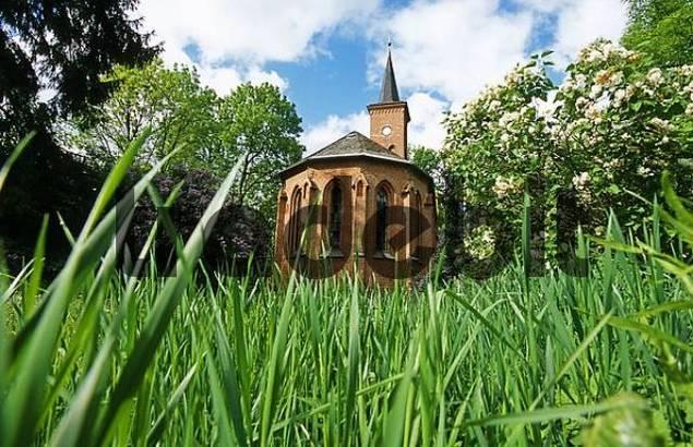 Church in the lakes region, Mecklenburg-Western Pomerania, Germany