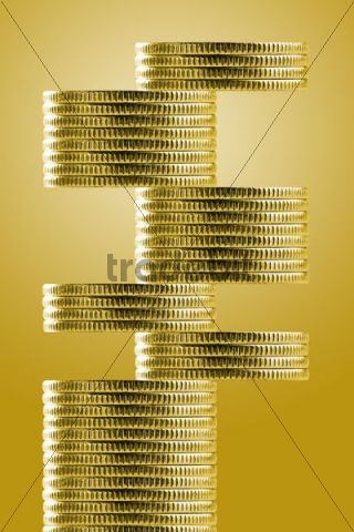 Pile of coins symbolizing unstable economy