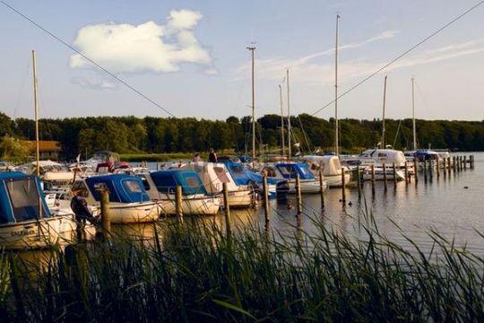Yachts in harbour, Silkeborg, Denmark