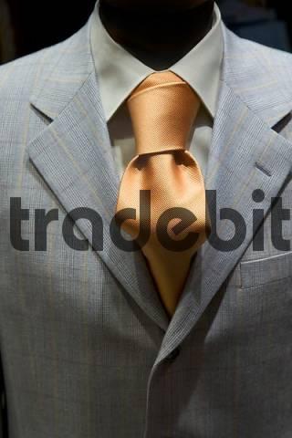 business suit with a noble cravat