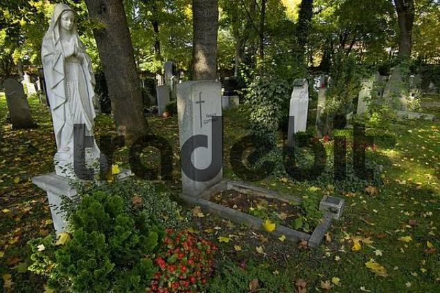 grave on the East Cemetary in Munich Bavaria Germany