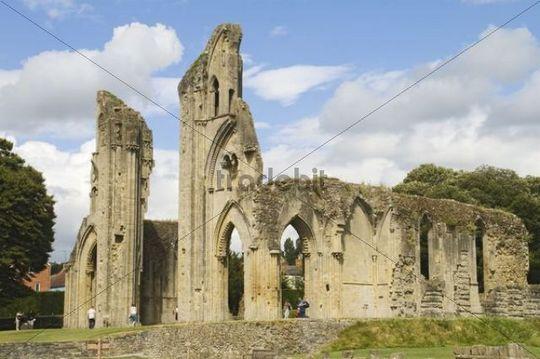Glastonbury Abbey, ruins, Glastonbury, Somerset, South England, England, United Kingdom, Europe