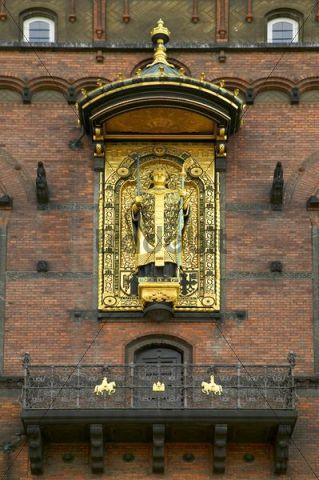 Statue of Bishop Absalon, the founder of Copenhagen, Denmark