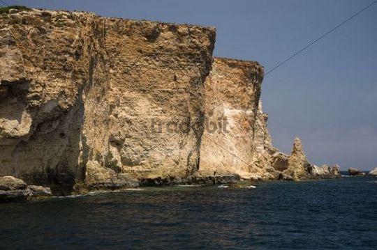 Steep coast, Comino, Malta, Europe