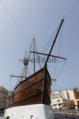 Replica of the Columbus ship Santa Maria, Santa Cruz de la Palma, La Palma, Canary Islands, Spain