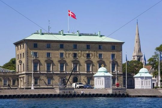 Administration building, harbour, Copenhagen, Denmark, Europe