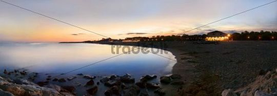 Panorama at sunset at the beach of Cavallino, Venice, Italy, Europe