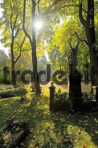 graves on the East Cemetary in Munich Bavaria Germany