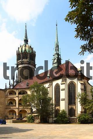 Schlosskirche, castle church, Wittenberg, Saxony-Anhalt, Germany, Europe