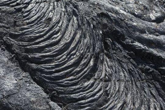 "Lava formation in the natural monument ""Monumento natural del tubo volcanico de Todoque"" in Las Manchas, La Palma, Canary Islands, Spain, Europe"