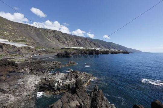 "Charco Verde, ""Paisaje protegido del Remo"" Nature Reserve, La Palma, Canary Islands, Spain, Europe"