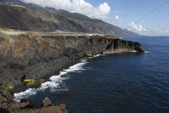 Playa las Monjas near Puerto Naos, La Palma, Canary Islands, Spain