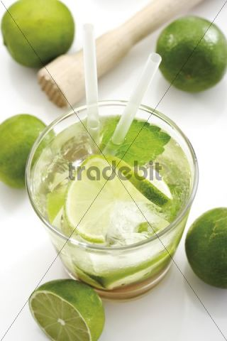 Drink, caipirinha with lime