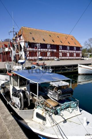The idyllic harbour in the small village Lundeborg, Funen, Denmark, Europe
