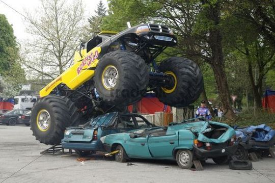Monster Truck Show, Bergisch Gladbach-Refrath, North Rhine-Westphalia, Germany, Europe