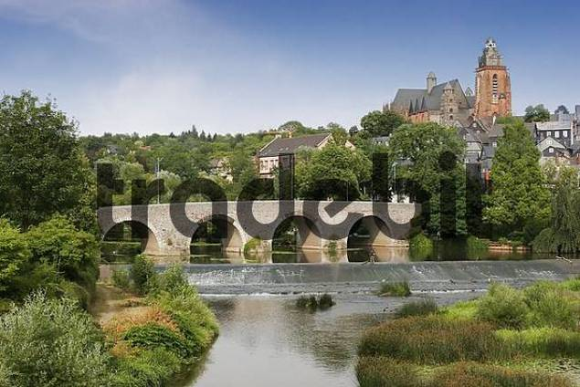 historic town Wetzlar with river Lahn and cathedral, Hesse, Germany