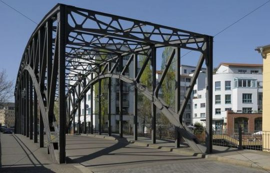 Koenneritz bridge, Leipzig, Saxony, Germany, Europe