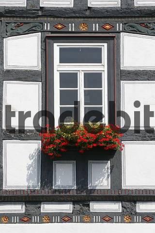 Butzbach Fenster fenster an einem fachwerkhaus in der altstadt butzbach hessen
