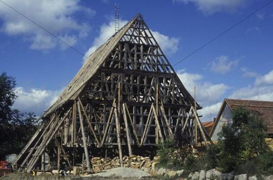 Building A Half Timbered House
