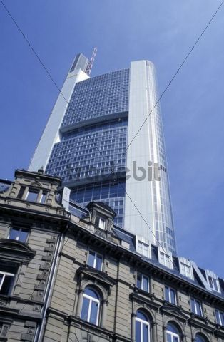 Houses in Kaiserstrasse Street, Commerzbank Bank, Frankfurt, Hesse, Germany, Europe