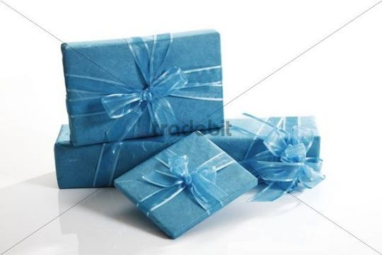 Presents with ribbons