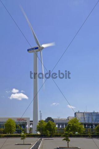 The Wind Turbine at the trade fair and convention centre Bella Center in Copenhagen, Denmark, Europe
