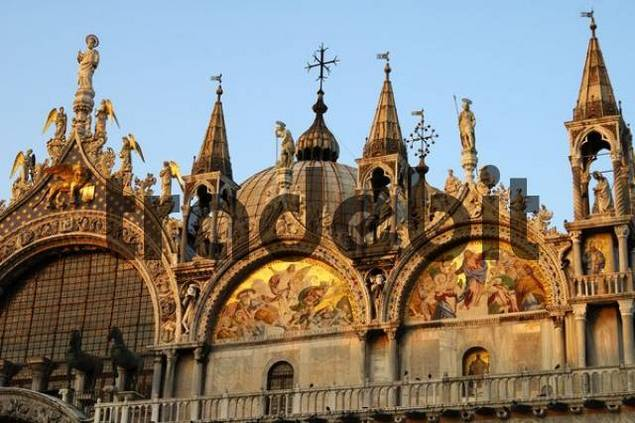 Evening sun at Basilica San Marco, Venice, Italy