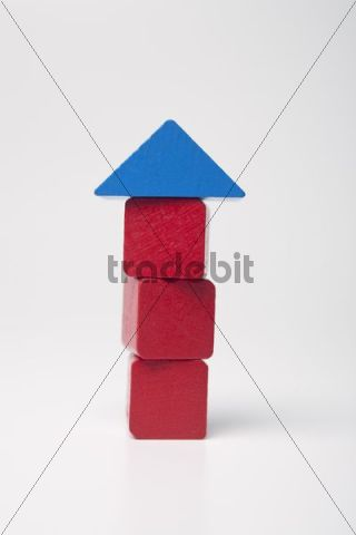 Red house, made of building bricks