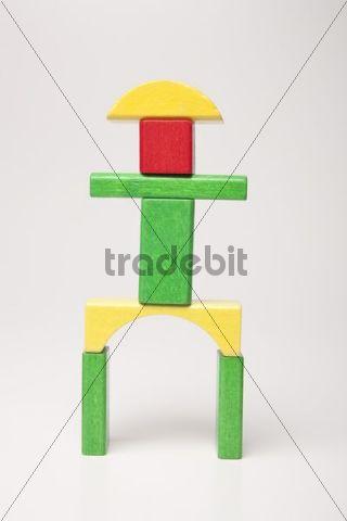 Figure, made of building bricks