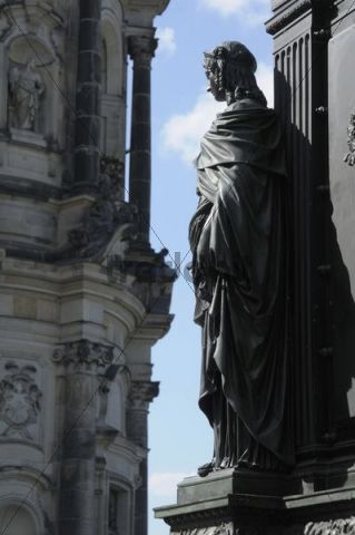 Section of the memorial to Friedrich August, Hofkirche Chruch, Dresden, Saxony, Germany, Europe