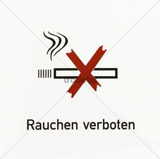 sign rauchen verboten german for smoking is prohibited with pict. Black Bedroom Furniture Sets. Home Design Ideas