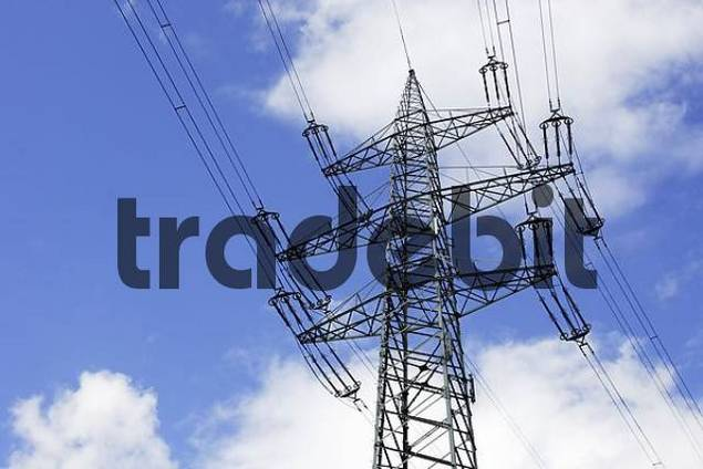 power pole of a high tension line