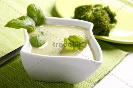 Broccoli soup with basil
