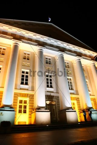 University of Tartu in the evening, Estonia, Baltic States, Northern Europe